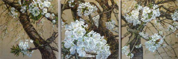 Doris-Ranftl-Kirschblütentriptychon-I