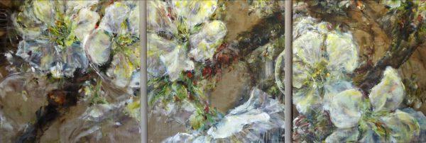 Doris-Ranftl-Kirschblütentriptychon-III